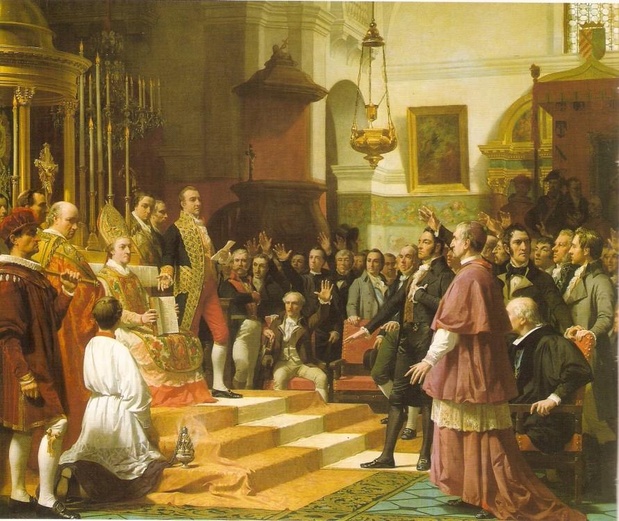 Juramento de las Cortes de Cádiz 1810