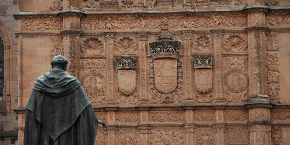 Fachada principal de las Escuelas Mayores Universidad de Salamanca