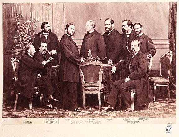 El Gobierno Provisional en 1869.