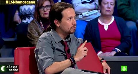 Pablo Iglesias en programa de televisión.