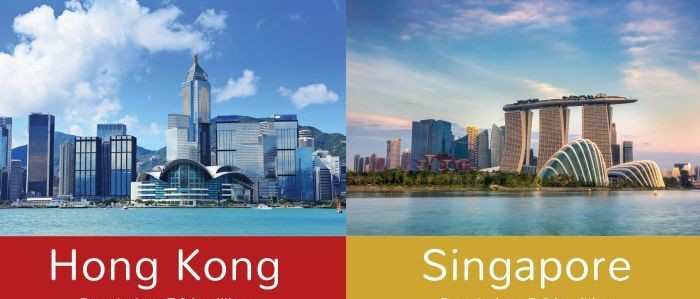 Hong Kong vs Singapore Infographic header