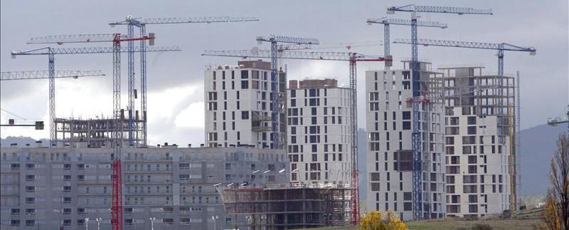 Construcción de viviendas durante la burbuja inmobiliaria